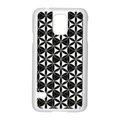 Flower Of Life Pattern Black White Samsung Galaxy S5 Case (white) by Cveti