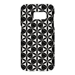 Flower Of Life Pattern Black White Samsung Galaxy S7 Hardshell Case