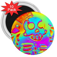 Rainbow Skeleton King 3  Magnets (10 Pack)  by Roxzanoart