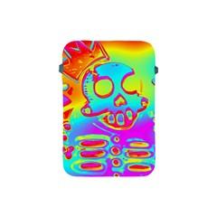 Rainbow Skeleton King Apple Ipad Mini Protective Soft Cases by Roxzanoart