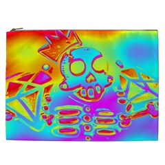 Rainbow Skeleton King Cosmetic Bag (xxl)  by Roxzanoart