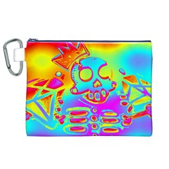 Rainbow Skeleton King Canvas Cosmetic Bag (xl) by Roxzanoart