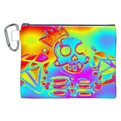 Rainbow Skeleton King Canvas Cosmetic Bag (xxl) by Roxzanoart