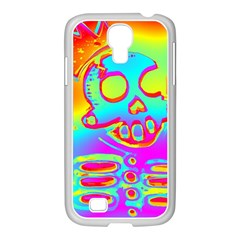 Rainbow Skeleton King Samsung Galaxy S4 I9500/ I9505 Case (white) by Roxzanoart