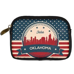 Tulsa Oklahoma Retro Skyline Digital Camera Cases by allthingseveryday