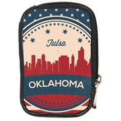 Tulsa Oklahoma Retro Skyline Compact Camera Cases by allthingseveryday