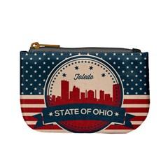 Retro Toledo Skyline Mini Coin Purses by allthingseveryday