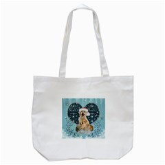 It s Winter And Christmas Time, Cute Kitten And Dogs Tote Bag (white) by FantasyWorld7