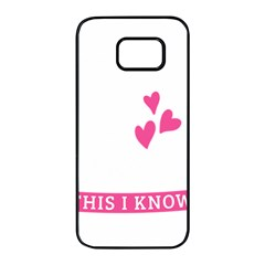 Jesus Loves Me [converted] Samsung Galaxy S7 Edge Black Seamless Case by clothcarts