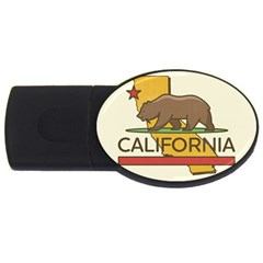 California Bear Usb Flash Drive Oval (4 Gb) by allthingseveryday