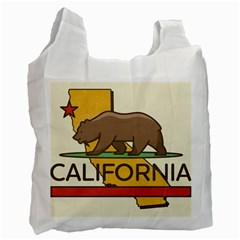 California Bear Recycle Bag (one Side) by allthingseveryday