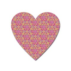 Kaledoscope Pattern  Heart Magnet by Cveti