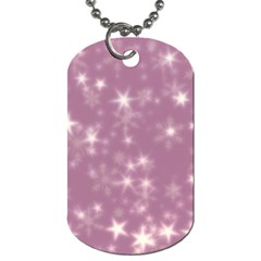 Blurry Stars Lilac Dog Tag (two Sides) by MoreColorsinLife