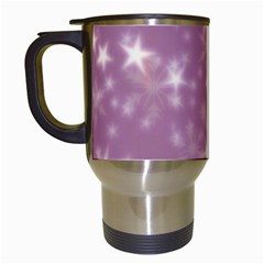 Blurry Stars Lilac Travel Mugs (white) by MoreColorsinLife