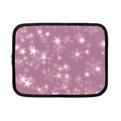 Blurry Stars Lilac Netbook Case (small)  by MoreColorsinLife