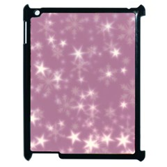 Blurry Stars Lilac Apple Ipad 2 Case (black) by MoreColorsinLife