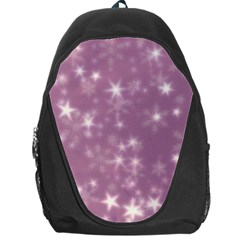 Blurry Stars Lilac Backpack Bag by MoreColorsinLife