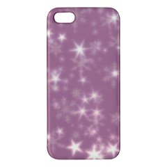Blurry Stars Lilac Apple Iphone 5 Premium Hardshell Case by MoreColorsinLife