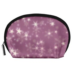 Blurry Stars Lilac Accessory Pouches (large)  by MoreColorsinLife