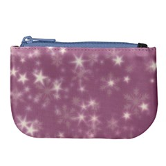 Blurry Stars Lilac Large Coin Purse by MoreColorsinLife