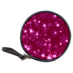 Blurry Stars Pink Classic 20 Cd Wallets by MoreColorsinLife