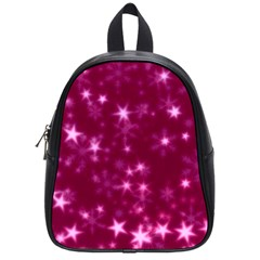 Blurry Stars Pink School Bag (small) by MoreColorsinLife