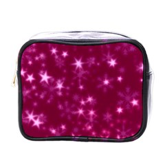 Blurry Stars Pink Mini Toiletries Bags by MoreColorsinLife