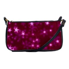 Blurry Stars Pink Shoulder Clutch Bags by MoreColorsinLife