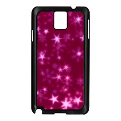 Blurry Stars Pink Samsung Galaxy Note 3 N9005 Case (black) by MoreColorsinLife