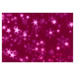 Blurry Stars Pink Canvas Cosmetic Bag (medium)
