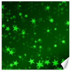 Blurry Stars Green Canvas 12  X 12   by MoreColorsinLife