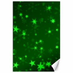 Blurry Stars Green Canvas 24  X 36  by MoreColorsinLife