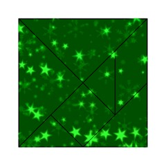 Blurry Stars Green Acrylic Tangram Puzzle (6  X 6 ) by MoreColorsinLife