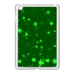 Blurry Stars Green Apple Ipad Mini Case (white) by MoreColorsinLife