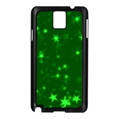 Blurry Stars Green Samsung Galaxy Note 3 N9005 Case (black) by MoreColorsinLife