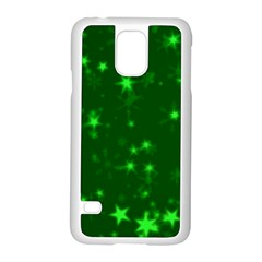 Blurry Stars Green Samsung Galaxy S5 Case (white) by MoreColorsinLife