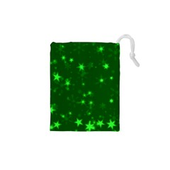 Blurry Stars Green Drawstring Pouches (xs)  by MoreColorsinLife