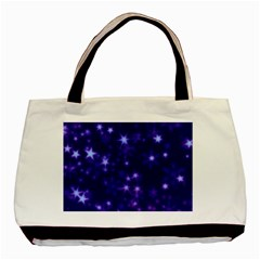 Blurry Stars Blue Basic Tote Bag by MoreColorsinLife