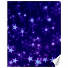Blurry Stars Blue Canvas 11  X 14   by MoreColorsinLife