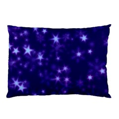 Blurry Stars Blue Pillow Case (two Sides) by MoreColorsinLife
