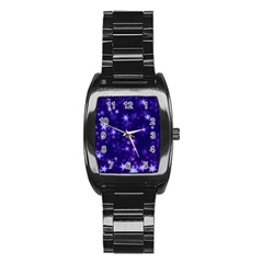 Blurry Stars Blue Stainless Steel Barrel Watch by MoreColorsinLife