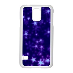 Blurry Stars Blue Samsung Galaxy S5 Case (white) by MoreColorsinLife