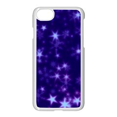 Blurry Stars Blue Apple Iphone 7 Seamless Case (white) by MoreColorsinLife