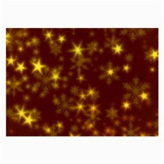 Blurry Stars Golden Large Glasses Cloth by MoreColorsinLife