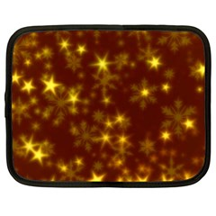 Blurry Stars Golden Netbook Case (xl)  by MoreColorsinLife
