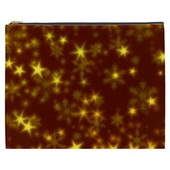 Blurry Stars Golden Cosmetic Bag (xxxl)  by MoreColorsinLife