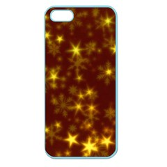 Blurry Stars Golden Apple Seamless Iphone 5 Case (color) by MoreColorsinLife