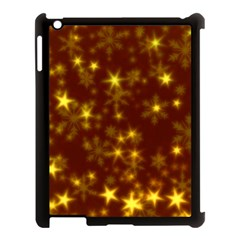 Blurry Stars Golden Apple Ipad 3/4 Case (black) by MoreColorsinLife