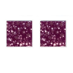 Blurry Stars Plum Cufflinks (square) by MoreColorsinLife