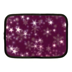 Blurry Stars Plum Netbook Case (medium)  by MoreColorsinLife